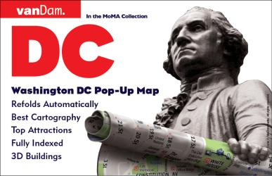 Buy map Washington, DC Pop-Up by VanDam from District of Columbia Maps Store