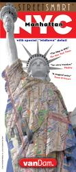 Buy map New York City, Manhattan StreetSmart by VanDam from New York Maps Store