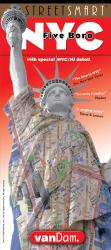 Buy map New York City Five Boro StreetSmart by VanDam from New York Maps Store