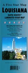 Buy map Louisiana Rapid Routes by Five Star Maps, Inc. in Louisiana Map Store