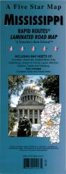 Buy map Mississippi Rapid Routes by Five Star Maps, Inc. from Mississippi Maps Store
