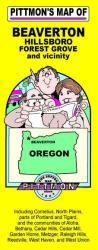 Buy map Beaverton, Hillsboro, and Forest Grove, Oregon and vicinity by Pittmon Map Company from Oregon Maps Store