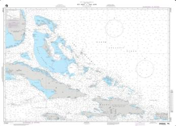 Buy map Key West To San Juan Nautical Chart (27005) by National Geospatial-Intelligence Agency from Florida Maps Store
