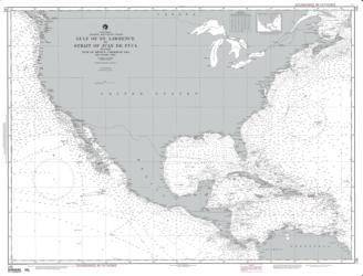 Buy map Gulf of St. Lawrence to Strait of Juan de Fuca Nautical Chart (145) by NOAA from California Maps Store