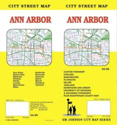 Buy map Ann Arbor, Michigan by GM Johnson from Michigan Maps Store