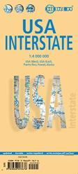 Buy map United States, Interstates by Borch GmbH. from United States Maps Store