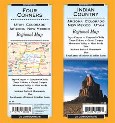 Buy map Indian Country-Arizona, Colorado, New Mexico and Utah by GM Johnson from United States Maps Store