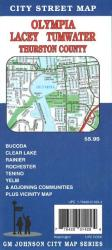 Buy map Olympia, Lacey, Tumwater and Thurston County, Washington by GM Johnson from Washington Maps Store