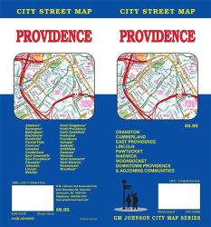 Buy map Providence, Rhode Island by GM Johnson in Rhode Island Map Store