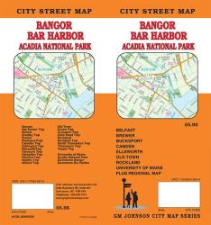 Buy map Bangor, Bar Harbor and Acadia National Park, Maine by GM Johnson in Maine Map Store