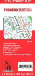 Buy map Fredericksburg, Spotsylvania, Stafford, King George and Caroline, Virgnia by GM Johnson from Virginia Maps Store