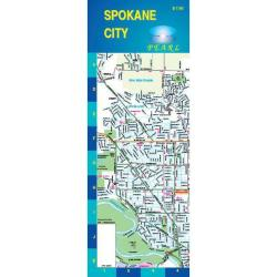 Buy map Spokane, Washington, Pearl Map, laminated by GM Johnson from Washington Maps Store