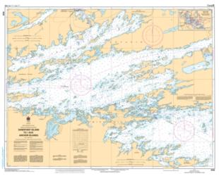 Buy map Sandpoint Island to/aux Anchor Islands by Canadian Hydrographic Service from Canada Maps Store