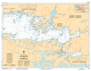 Buy map Rainy Lake/Lac a la Pluie, Southeast Portion/Partie Sud-Est Anchor Isslands to/a Oakpoint Island by Canadian Hydrographic Service from Canada Maps Store