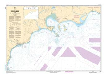 Buy map Pointe de Moisi a/to Ile du Grand Caouis by Canadian Hydrographic Service from Canada Maps Store