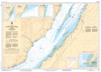 Buy map Cap de la Tete au Chien au/to Cap Aux Oies by Canadian Hydrographic Service from Canada Maps Store