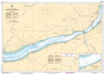 Buy map Quebec a/to Donnacona by Canadian Hydrographic Service from Canada Maps Store
