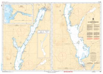 Buy map Lac Memphremagog by Canadian Hydrographic Service from Canada Maps Store