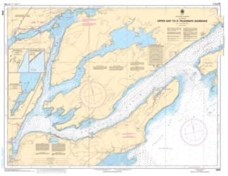Buy map Upper Gap to/a Telegraph Narrows by Canadian Hydrographic Service from Canada Maps Store