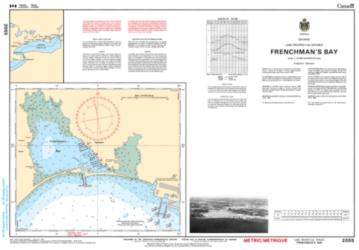 Buy map Frenchmans Bay by Canadian Hydrographic Service from Canada Maps Store