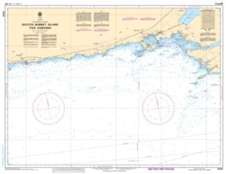 Buy map Scotch Bonnet Island to/a Cobourg by Canadian Hydrographic Service from Canada Maps Store