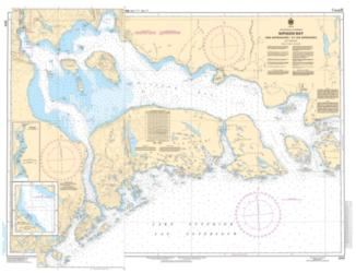 Buy map Nipigon Bay and Approaches/et les Approches by Canadian Hydrographic Service from Canada Maps Store
