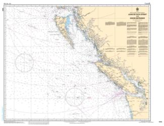 Buy map Juan de Fuca Strait to/a Dixon Entrance by Canadian Hydrographic Service from Canada Maps Store