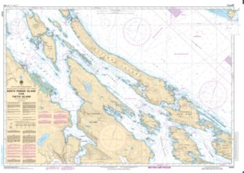 Buy map North Pender Island to/a Thetis Island by Canadian Hydrographic Service from Canada Maps Store
