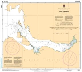 Buy map Port Chanal by Canadian Hydrographic Service from Canada Maps Store