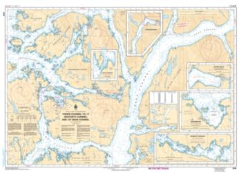 Buy map Fisher Channel to/a Seaforth Channel and/et Dean Channel by Canadian Hydrographic Service from Canada Maps Store