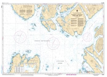Buy map Approaches to/Approches a Portland Inlet by Canadian Hydrographic Service from Canada Maps Store