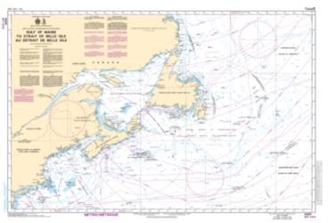 Buy map Gulf of Maine to Strait of Belle Isle/Au Detroit de Belle Isle by Canadian Hydrographic Service from Canada Maps Store