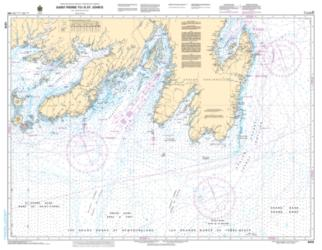 Buy map Saint-Pierre to/a St. Johns by Canadian Hydrographic Service from Canada Maps Store