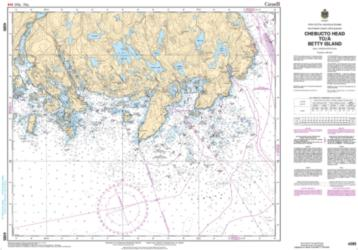 Buy map Chebucto Head to/a Betty Island by Canadian Hydrographic Service from Canada Maps Store