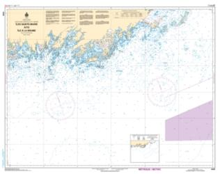 Buy map Iles Sainte-Marie a/to Ile a La Brume by Canadian Hydrographic Service from Canada Maps Store