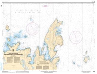 Buy map Quirpon Harbour and Approaches/et les Approches by Canadian Hydrographic Service from Canada Maps Store
