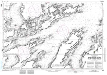 Buy map Sunday Cove Island to/a Thimble Tickles by Canadian Hydrographic Service from Canada Maps Store