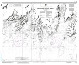 Buy map Wreck Island to/a Cinq Cerf Bay by Canadian Hydrographic Service from Canada Maps Store