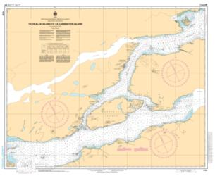 Buy map Ticoralak Island to/a Carrington Island by Canadian Hydrographic Service from Canada Maps Store