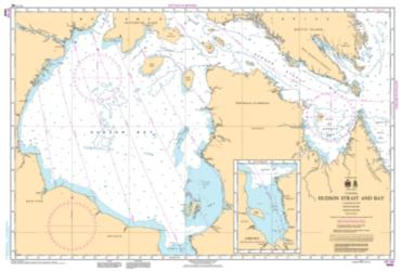 Buy map Hudson Strait and Bay by Canadian Hydrographic Service from Canada Maps Store