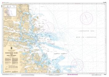 Buy map Nunaksaluk Island to/a Cape Kiglapait by Canadian Hydrographic Service from Canada Maps Store