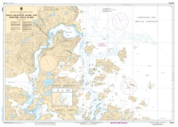 Buy map South Auliatsivik Island to/a Fenstone Tickle Island by Canadian Hydrographic Service from Canada Maps Store