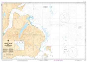 Buy map Amiktok Island to/a Osborne Point by Canadian Hydrographic Service from Canada Maps Store