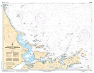 Buy map Approaches to Cartwright, Balck Island to Tumbledown Dick Island by Canadian Hydrographic Service from Canada Maps Store