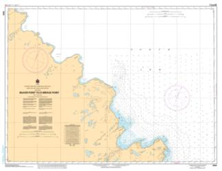 Buy map McIver Point to/a Mirage Point by Canadian Hydrographic Service from Canada Maps Store