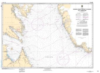 Buy map Hudson Strait/Detroit d/Hudson to/a Groenland by Canadian Hydrographic Service from Canada Maps Store