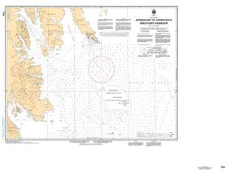 Buy map Approaches to/Approches a Brevoort Harbour by Canadian Hydrographic Service from Canada Maps Store