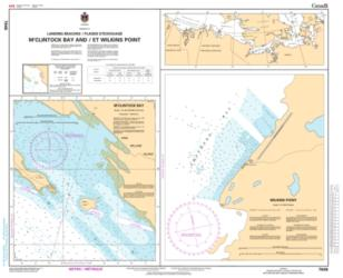 Buy map MCClinktock Bay and/et Wilkins Point by Canadian Hydrographic Service from Canada Maps Store