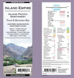 Buy map Inland Empire, Eastern Washington and Northern Idaho by GM Johnson from United States Maps Store