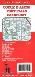 Buy map Coeur DAlene, Post Falls and Sandpoint, Idaho by GM Johnson from Idaho Maps Store